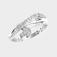 Кольцо  женское серебряное Бамбук KE-1367