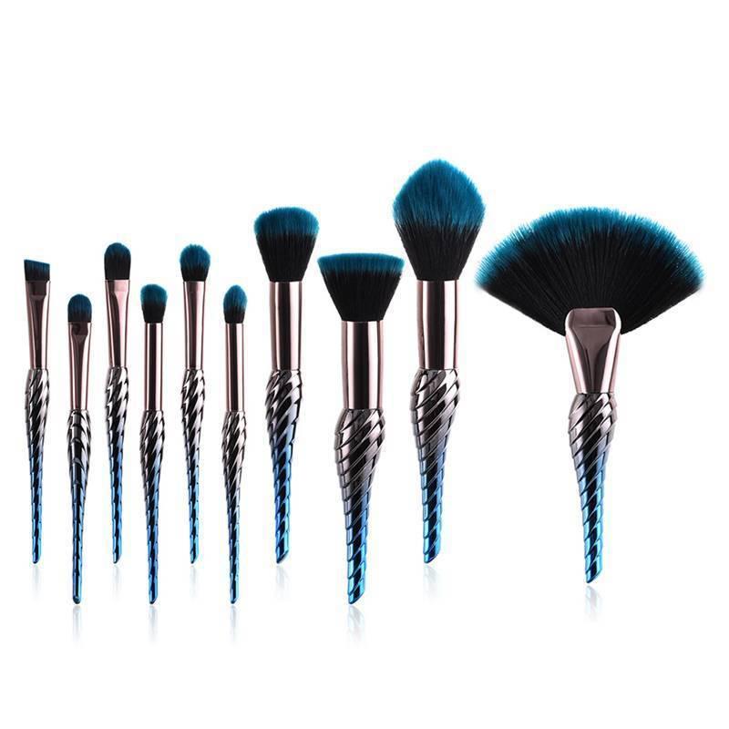 Набор из 10 кистей для макияжа Conch Shaped Brushes Kit