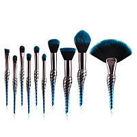 Набор из 10 кистей для макияжа Conch Shaped Brushes Kit, фото 1