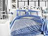 КПБ HOBBY Exclusive Sateen Laura блакитний 200*220/4*50*70