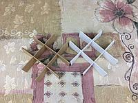Перегородка для конфет / 120х120х30 мм / 9 ячеек / Маленьк / Крафт-Белая, фото 1