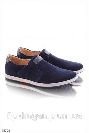 Туфли без шнурков , в синем цвете! в наличии! новые! 40-45 р!, фото 2