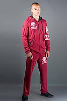 Мужской спортивный костюм Шалди (бордовый)