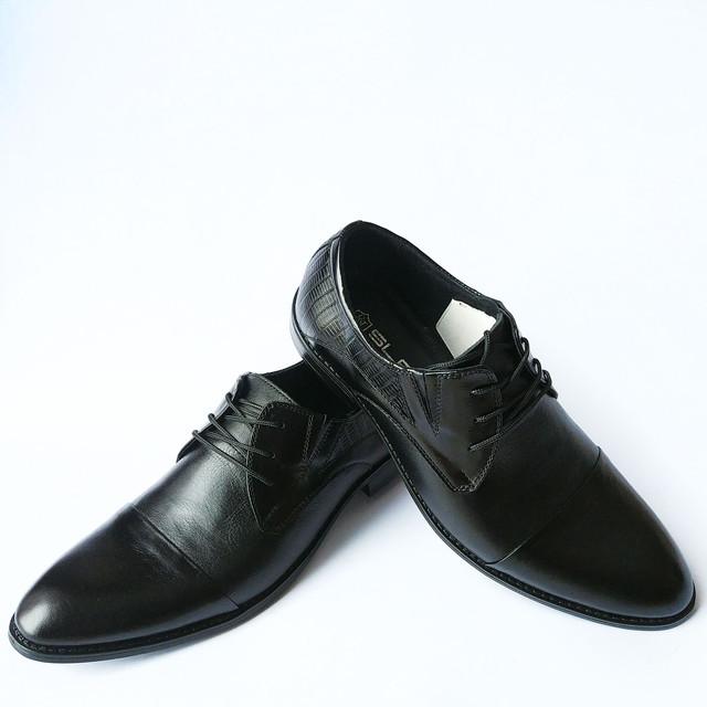 Оригинальная Slat мужская обувь черного цвета на шнуровке классические туфли
