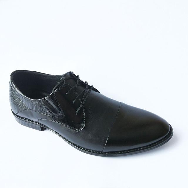 Оригинальная Slat мужская обувь классические туфли черного цвета на шнуровке