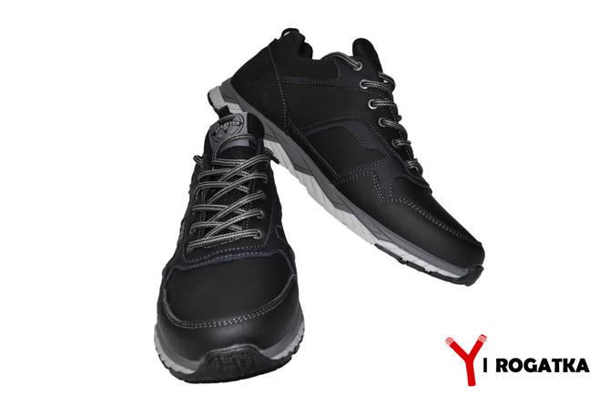 Мужские кожаные кроссовки. SPLINTER. Черные