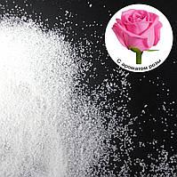 Ароматизированные насыпные свечи с запахом розы 1 кг + 1 м фитиля
