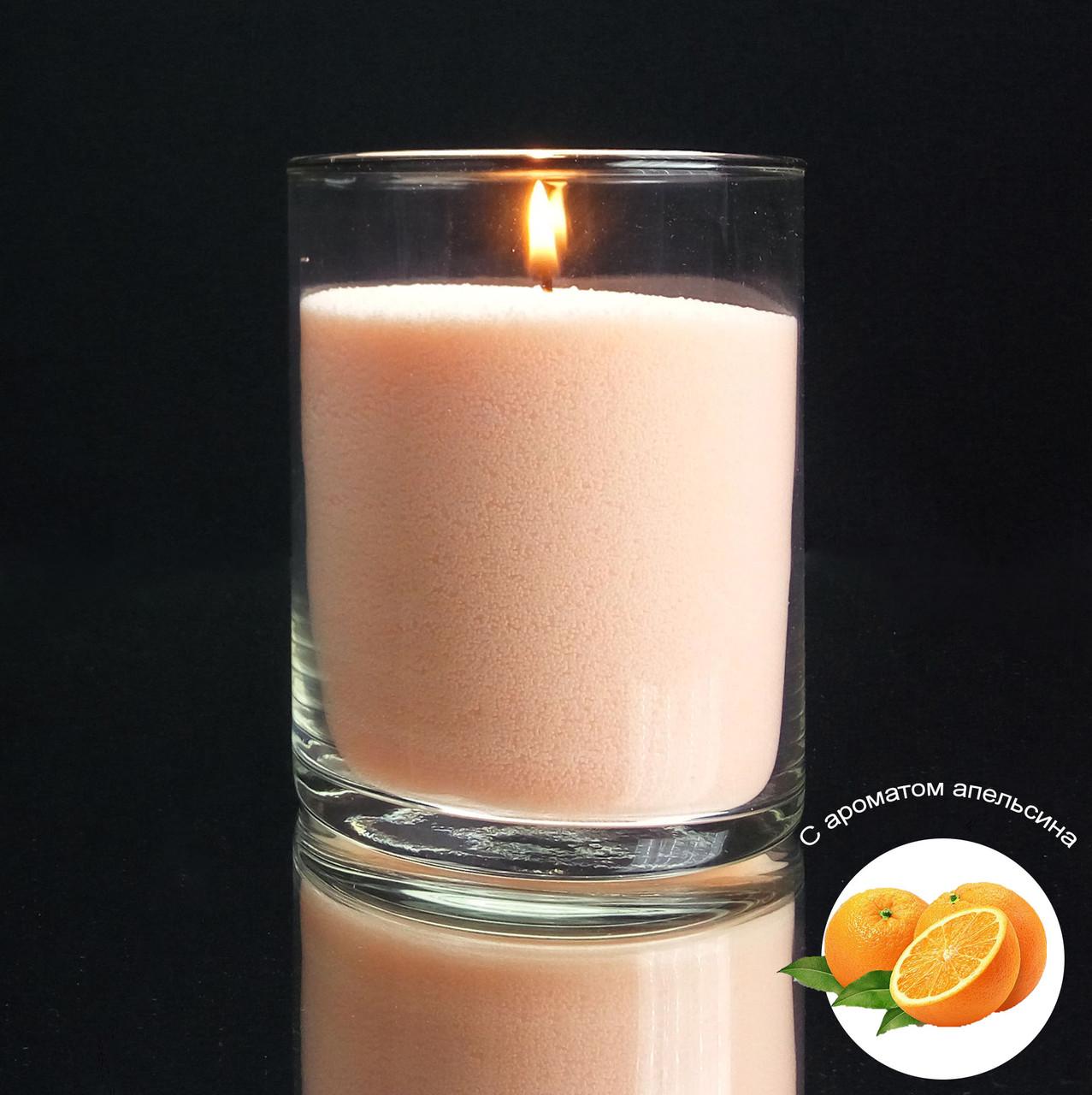 Персиковые насыпные свечи с запахом апельсина 1 кг + 1 м фитиля