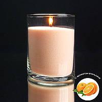 Персиковые насыпные свечи с запахом апельсина 1 кг + 1 м фитиля, фото 1