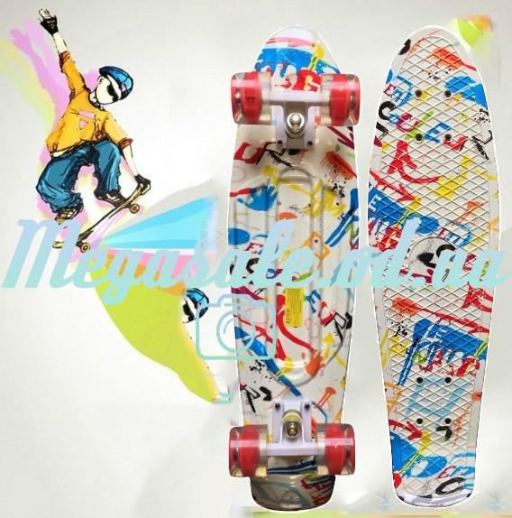 989f91242b06 Скейтборд скейт пенни борд (Penny Board) Happy Print Collection, 27 дюймов