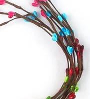 Веточка-прутик с разноцветными почками 5 шт.