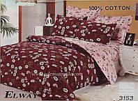 Семейный комплект постельного белья ELWAY 3153 сатин