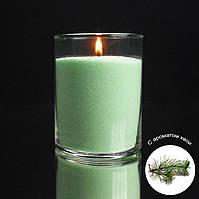 Ароматизированные салатовые насыпные свечи, с запахом хвои 1 кг + 1 м фитиля