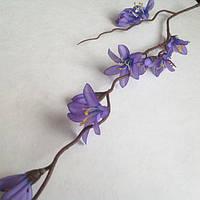 Веточка весеннего первоцвета 50 см_ГОЛУБОЙ, фото 1
