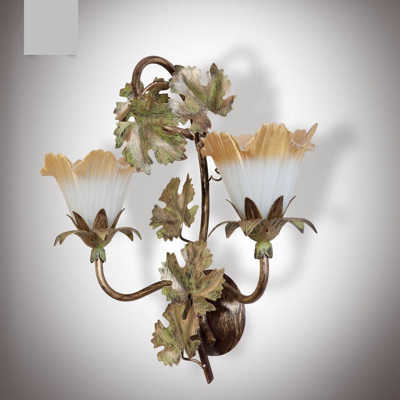 Бра в стиле флористика 2 ламповое  8206