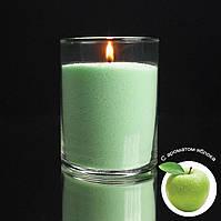 Ароматизированные салатовые насыпные свечи, с запахом яблока 1 кг + 1 м фитиля
