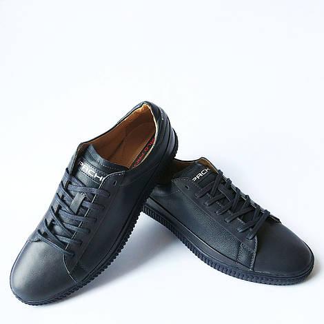 Мужская обувь Carlo Pachini : кожаные кеды, синего цвета