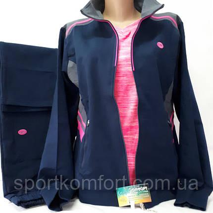 Женский спортивный трикотажный костюм, турецкий, размеры 48, 50., фото 2