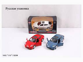 """Модель легковая PLAY SMART 6428 """"Автодром"""" Porsche Panamera метал.инерц.отк.дв.3цв.кор.14*7*7/96"""