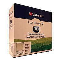 PLA пластик Verbatim 1 кг натуральный 1,75 мм. Пластик для 3D печати