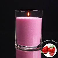 Ароматизированные розовые насыпные свечи, с запахом клубники 1 кг + 1 м фитиля