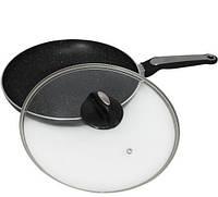 Сковорода Kamille Velbert Ø28см с мраморным антипригарным покрытием, фото 1