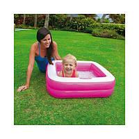 Intex 57100 (85 х 85 х 23 см.) Розовый надувной бассейн для детей