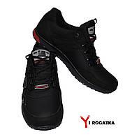 Мужские кожаные кроссовки. SPLINTER. Черные 43