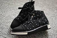 Женские ботинки Coco букле Black весна деми 37-39