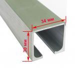 Профиль для межкомнатных дверей (раздвижной сист) EKF120101-2 (80кг2м)