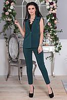 Костюм женский жилет и брюки в расцветках 32226