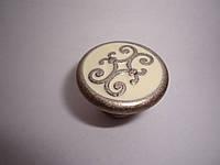 Кнопка старое серебро с керамикой Италия