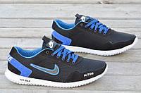 Кроссовки Nike найк реплика натуральная замша, сетка мужские летние черные (Код: 574) Только 41р!!!