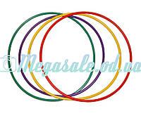 Обруч пластмассовый для гимнастики и фитнеса: 89см, микс цветов