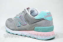 Женские кроссовки New Balance 574, Серые, фото 3