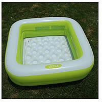 Intex 57100 (85 х 85 х 23 см.) Салатовый надувной бассейн для детей