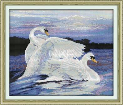 """Набор для вышивания   """"Лебеди"""", фото 2"""