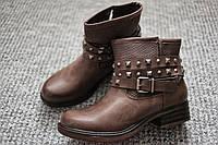 Женские ботинки ковбойки Европа хаки кожа 36 - 41