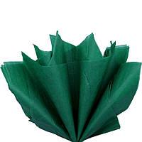 Бумага тишью Зеленый глубокий 50x70 см Папиросная 23 гр/м 30 шт/уп подарочная упаковочная Польша