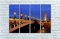 """Модульна картина """"Міст у ночі"""""""