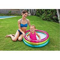Intex 57104 (86 х 25 см.) круглый надувной бассейн для детей