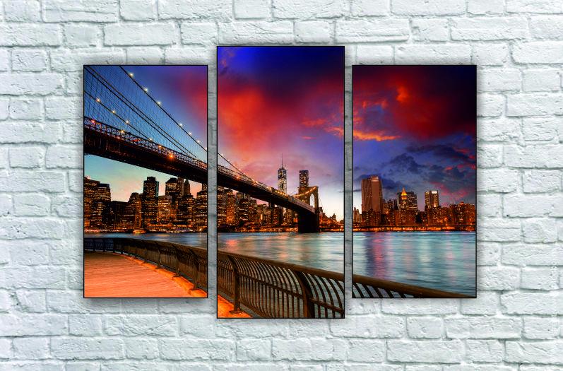 """Модульна картина """"Нью-Йорк, міст"""""""