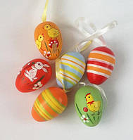 Яйца декоративные, подвесные 6 шт._ЗАЙКА и КУРОЧКИ