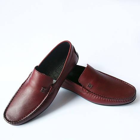 Кожаная rifellini обувь Турция : мужские мокасины, бордового цвета, тренд 2018
