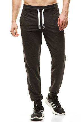 Мужские спортивные штаны 403 антрацит, фото 2