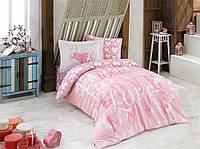 КПБ HOBBY Poplin Love рожевий 160*220/1*50*70