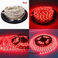 Светодиодная  LED лента  SMD 5630 60LED/m 15W/m  красный 12V  IP20   5м, фото 2