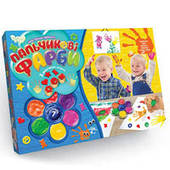 Пальчикові фарби Моя перша творчість 7 кольорів Danko toys РК-01-02