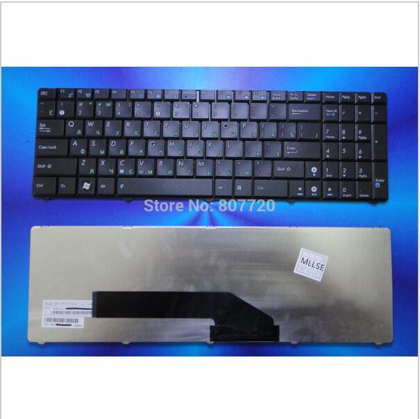 Клавиатура для ноутбука ASUS K51 rus, black (old design)