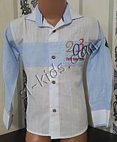 Стильна х/б сорочка для хлопчика 92-122 см (опт) (пр. Туреччина)